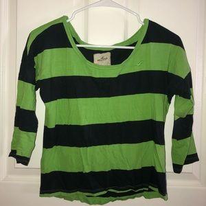 Hollister Quarter Sleeve Striped Shirt